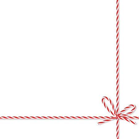 Abstract white background tied up with red rope bakers twine bow and ribbons