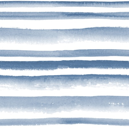 slick: Abstract watercolor monochrome indigo striped seamless pattern Stock Photo