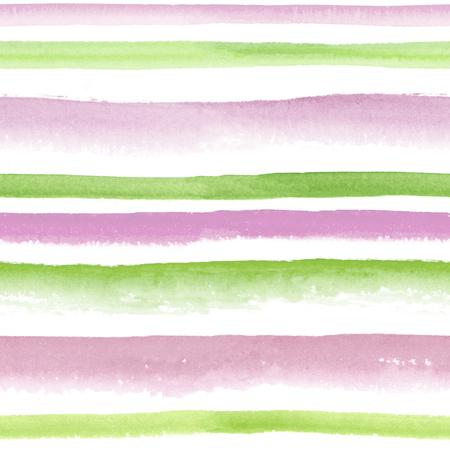 quartz: Watercolor rose quartz and green striped seamless pattern