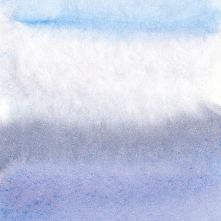 slick: Abstract hand painted lilac grey and blue watercolor background Stock Photo