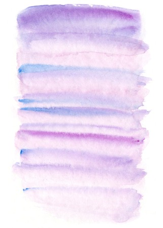 slick: Abstract hand painted lilac, rose quartz and serenity watercolor background Stock Photo