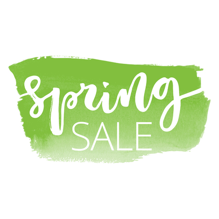 Spring sale hand written inscription