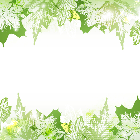 Spring leaves background Illustration