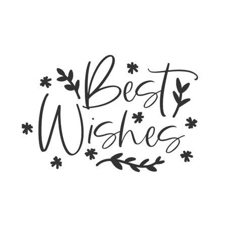 Best wishes holiday hand written lettering phrase Ilustração