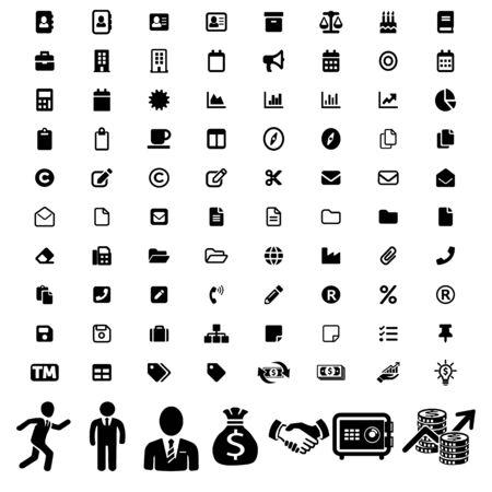 Big modern set of business icons.Businessmen pictogram