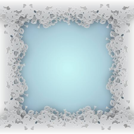 laced: White laced framevector illustration on blue background.