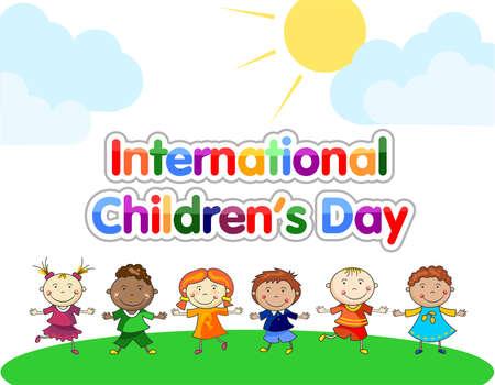 World Children's Day illustration vector Иллюстрация