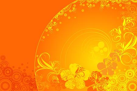 beautiful red hibiscus flower: hibiscus flower vector illustration Illustration