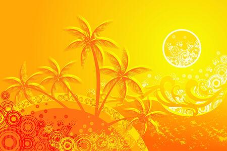 tropic beach vector Stock Vector - 3726996