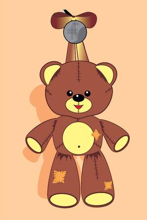 pl�schtier: Soft Spielzeug teddy Illustration