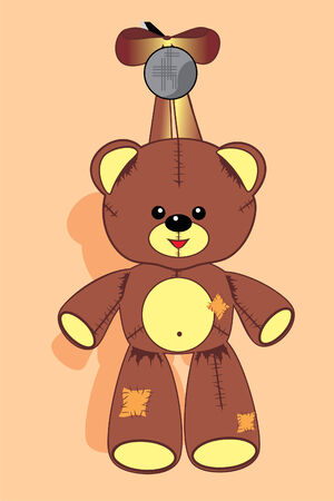 soft toy: soft toy teddy Illustration