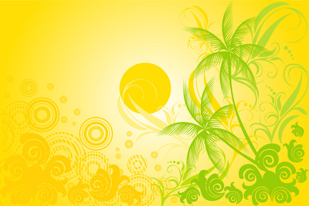 frond: tropic background vector