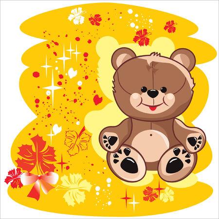 bear autumn Vector