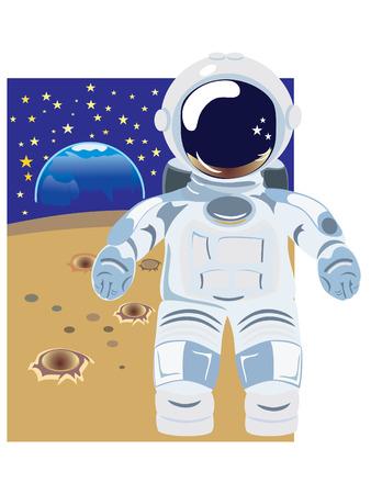 night suit: The cosmonaut Illustration