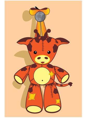 pl�schtier: Giraffe soft toy