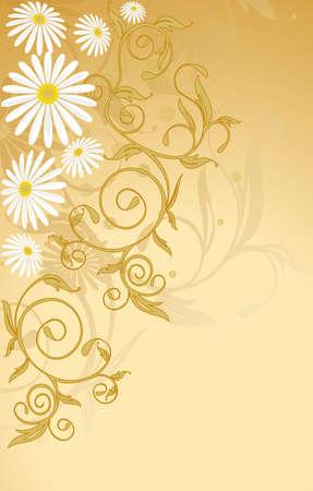 flower background, element for design, vector illustration Stock Vector - 3726944