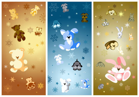 teddy bear christmas: Vector Baby Christmas for you design