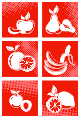 Fruit icon set Illustration