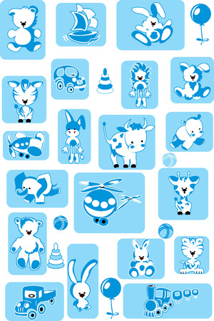 set of toys. vector illustration Vector