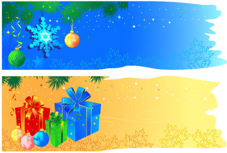 Christmas banners with space for your text.  Vector