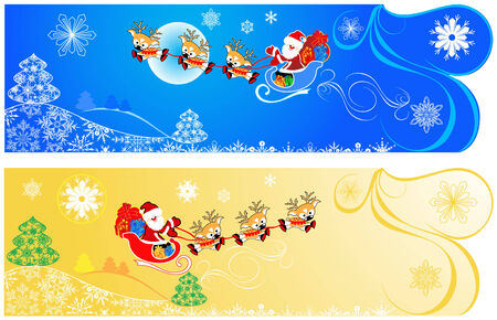 Cute Christmas banners. Vector