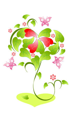 Valentines day tree Stock Vector - 4149793
