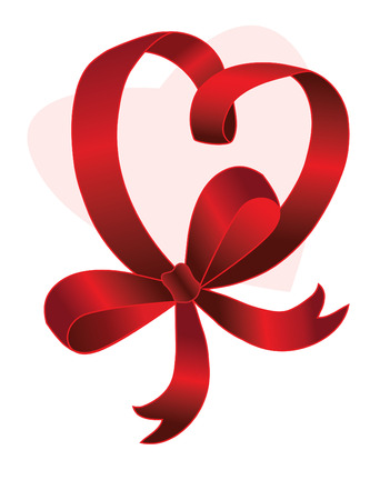 red ribbon isolated on white background Vector