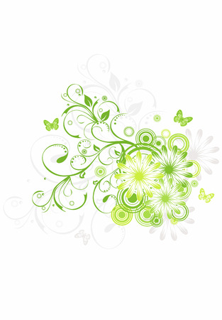 Abstract floral background, element for design, vector Vector