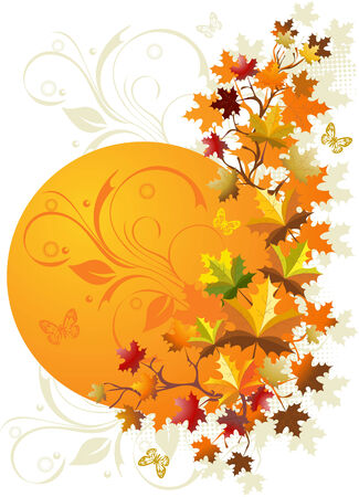 Autumn floral background Stock Vector - 5312180