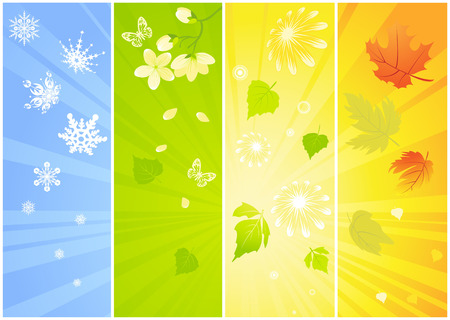 four: Four seasonal backgrounds