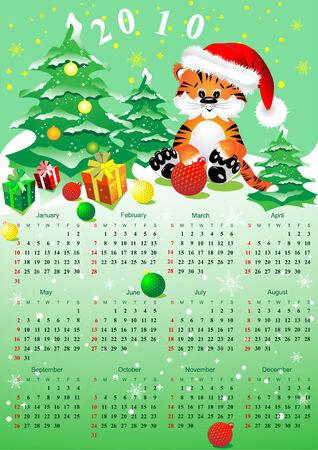 Christmas calendar 2010 Stock Vector - 6011975
