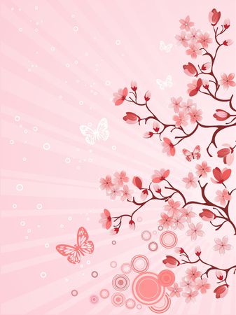 Japanese cherry blossom Illustration