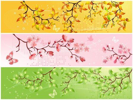 Seasonal backgrounds Stock Vector - 6992583