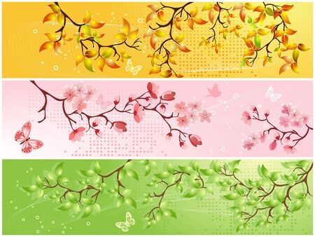 Seasonal backgrounds Stock Vector - 6992583
