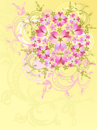 pink floral abstract background Vector