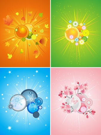 four season set Stock Vector - 8640671