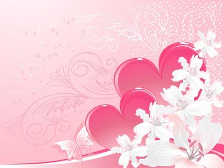muguet fond blanc: White Lily et valentine, jour s