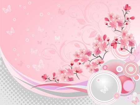Japanese cherry blossom Stock Vector - 8898696