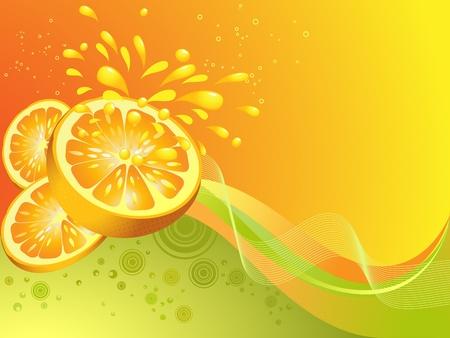 Orange Zitrusfrüchte. Vektor-illustration