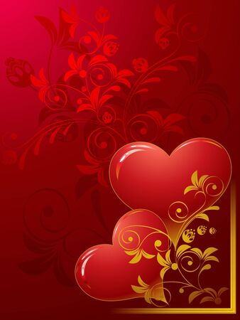 Valentines day, dark red background   Vector