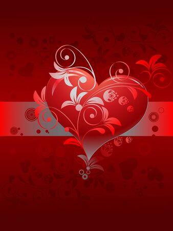 Valentines day, vector illustration  Illustration