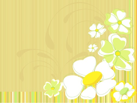 Floral pattern on a striped background Vector