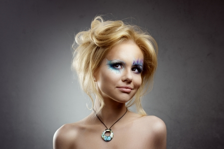 teen girl make-up mermaid beautiful photo