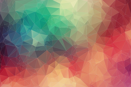 of color: Abstract 2D geometric colorful background Illustration
