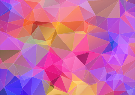 Multicolor triangle abstract background