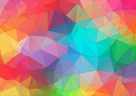 Abstract 2D triangle colorful background Ilustração