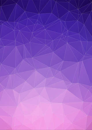 web banner: Violet polygonal design. Abstract form book cover or web banner