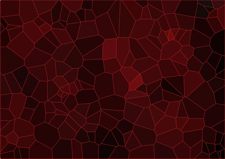 ceramic: Red mosaic composition with ceramic geometric shapes for your design Vectores