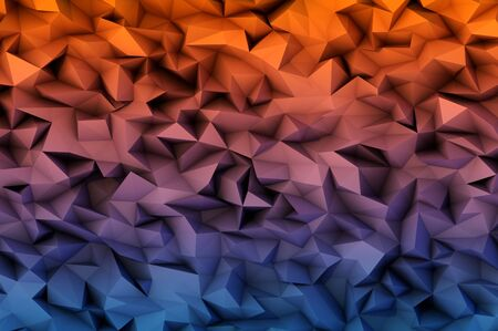 designe: abstract background consisting of 3D triangles for your designe Stock Photo