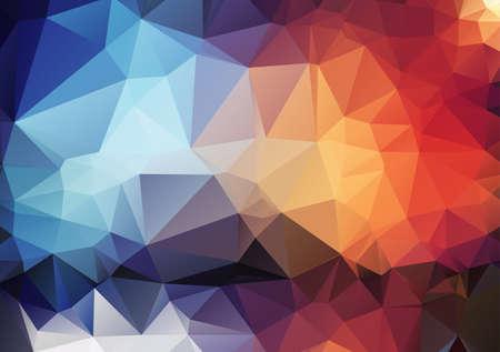 angular: Retro pattern of angular geometric shapes Illustration